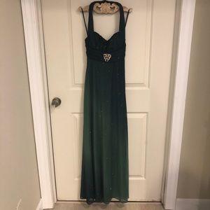 Betsy & Adam Formal Halter Dress